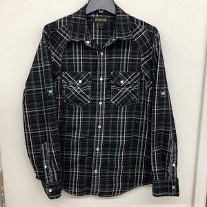 EUC Helix Mens Plaid Shirt